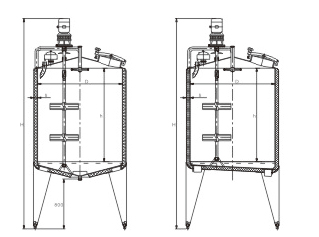双层立式搅拌罐系列-结构